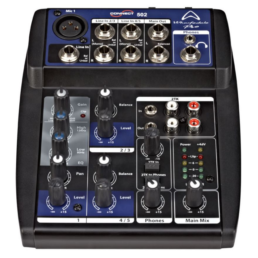 Wharfedale Pro CONNECT 502 - MIXER AUDIO 5 CANALI