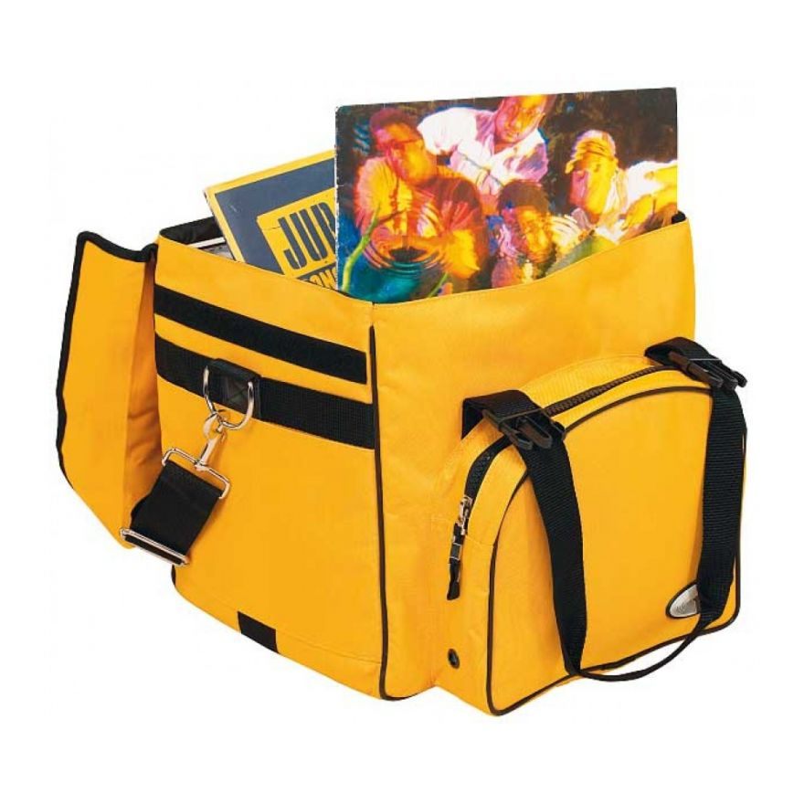 ROCKBAG RB27120YE DJ backpack bag per 50 vinili yellow