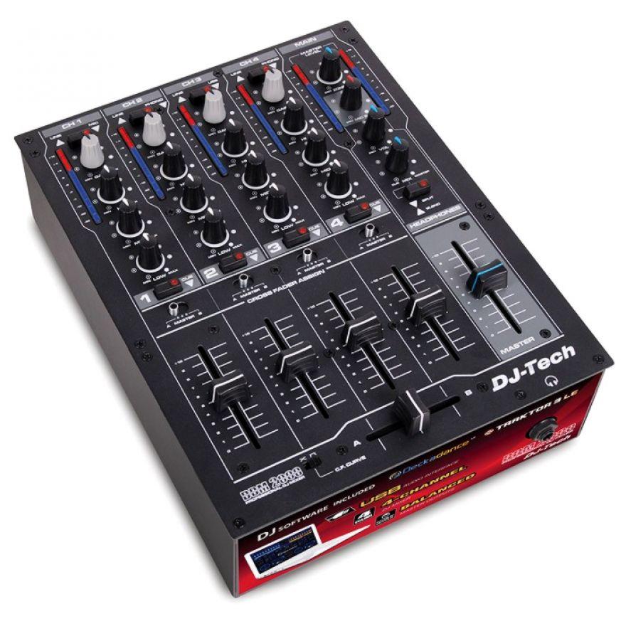 DJ TECH DDM2000USB - CLUB MIXER DJ 4Ch CON SCHEDA AUDIO USB