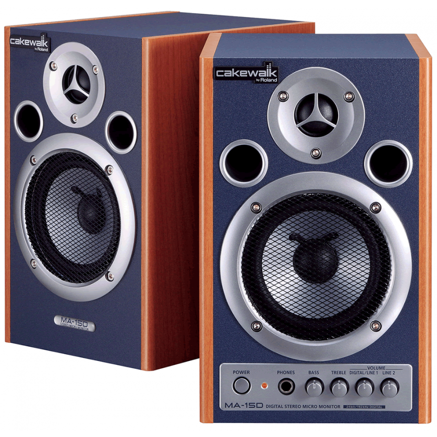 CAKEWALK MA15DCW - COPPIA MONITOR SPEAKER AMPLIFICATI 15W + 15W