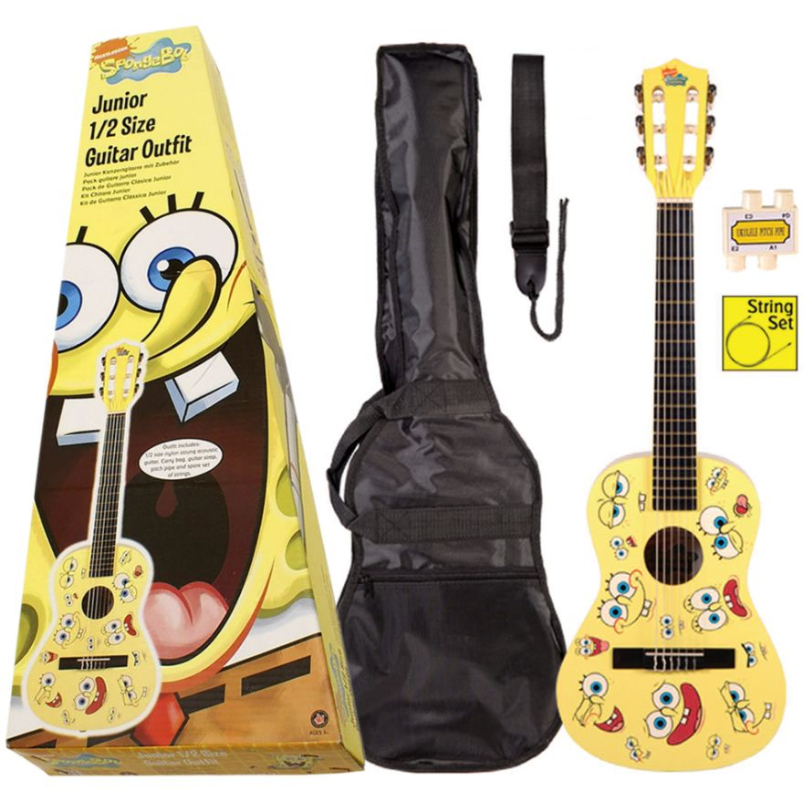 SpongeBob KIT Chitarra classica 1/2 + Accessori