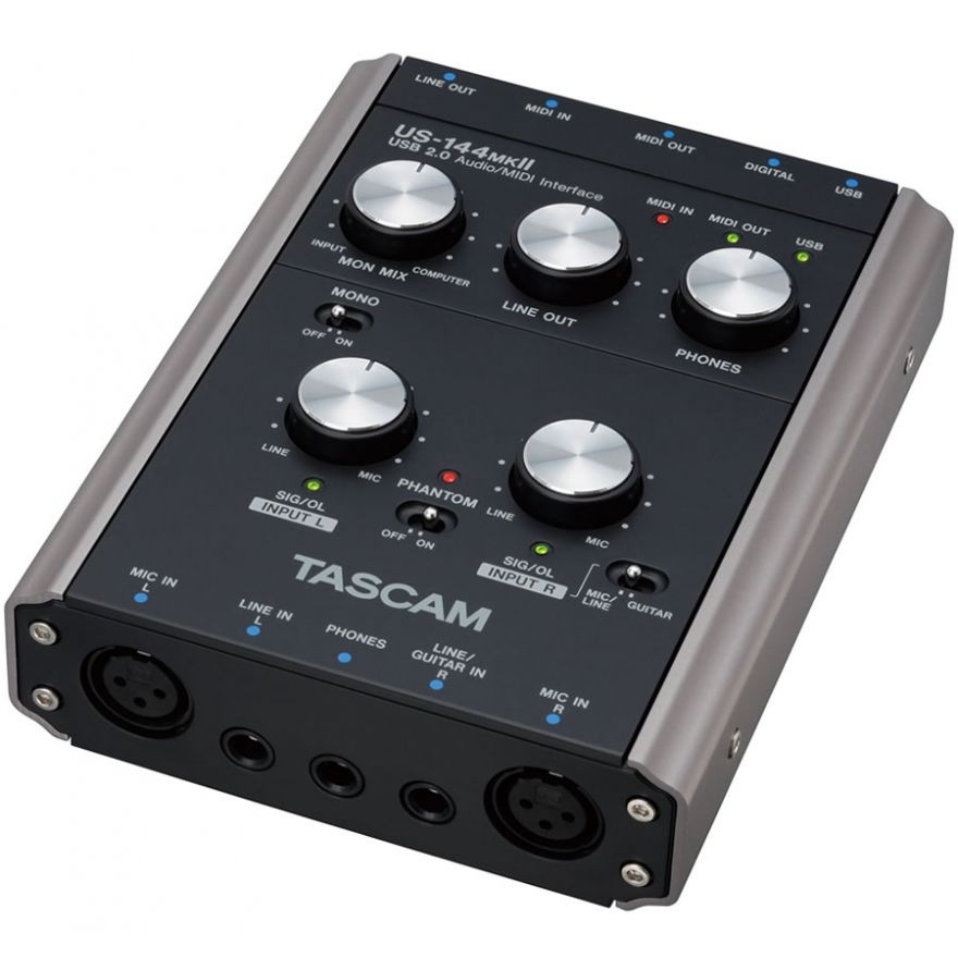 TASCAM US144 MKII  - INTERFACCIA AUDIO MIDI USB 2.0 A 4 CANAL
