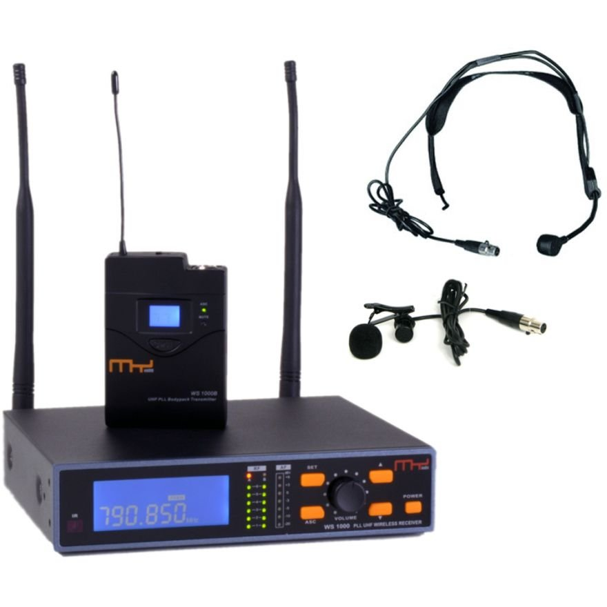 MyAudio WS1000SET + HT-1C - SISTEMA WIRELESS UHF CON ARCHETTO E