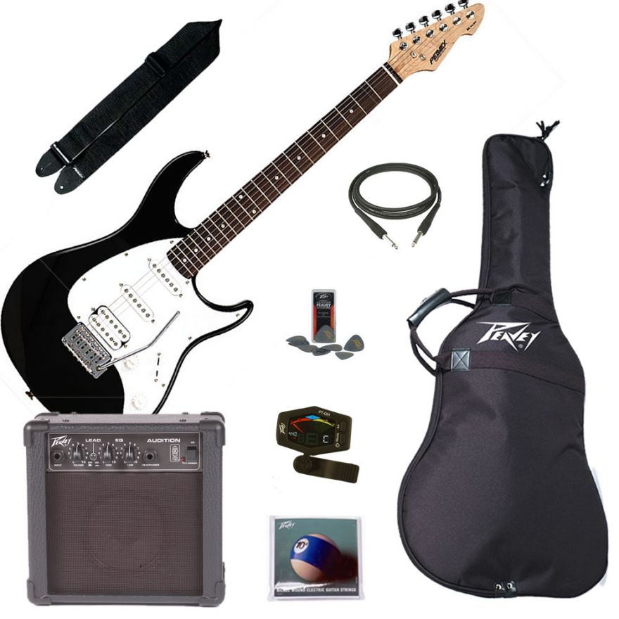 PEAVEY ELECTRIC GUITAR PACK PLUS BLACK - KIT CHITARRA ELETTRICA