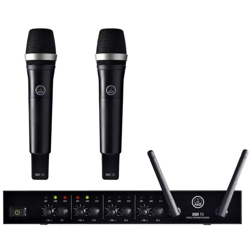 AKG DMS70 Q Vocal Dual Set - RADIOMICROFONO DOPPIO PALMARE