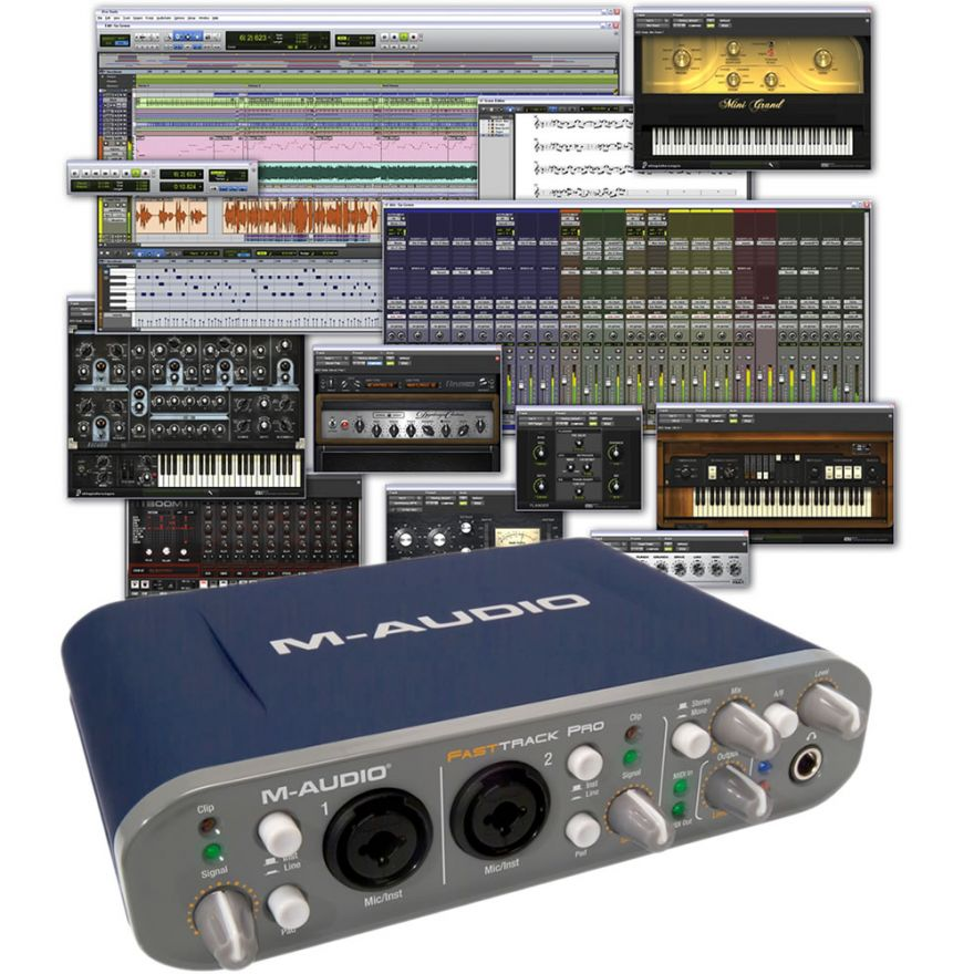 M-AUDIO FAST TRACK PRO + Pro Tools M-Powered 9