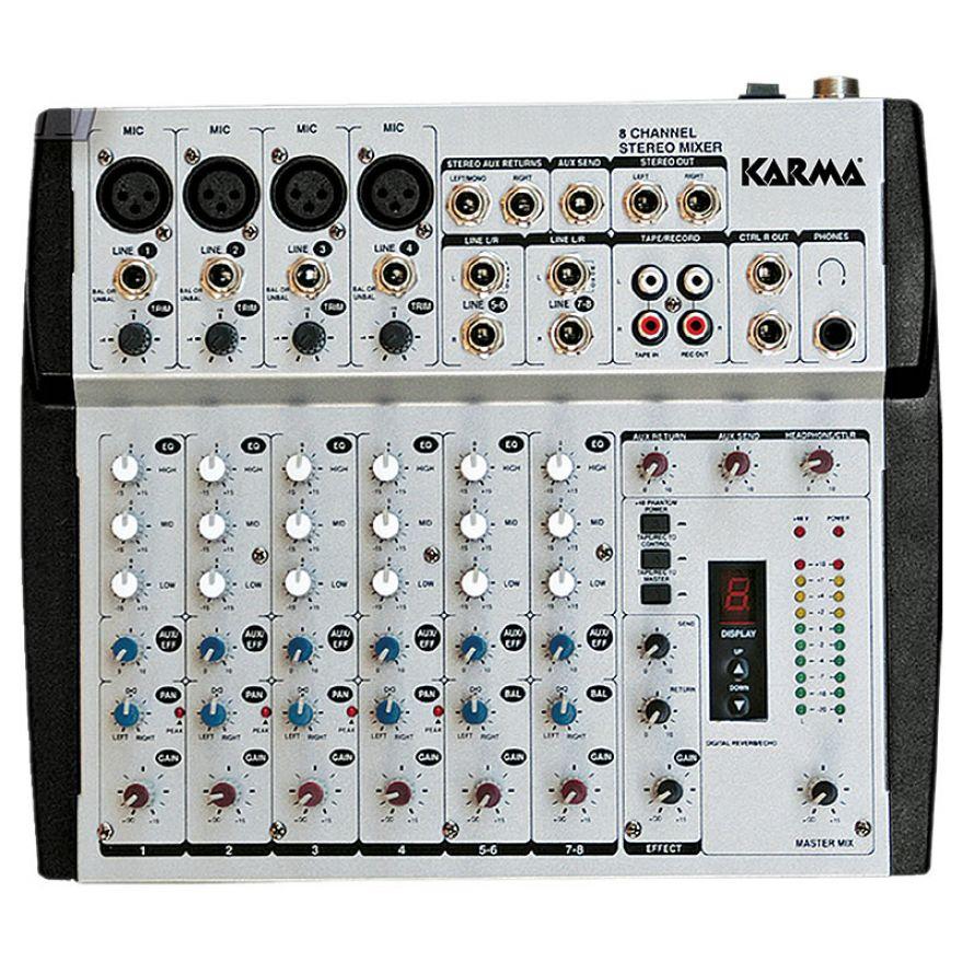 KARMA MX 4908 - MIXER MICROFONICO 8 CANALI