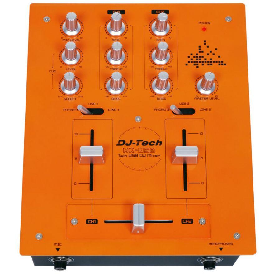 DJ TECH MIX CONTROL 20 - MIXER USB PER DJ