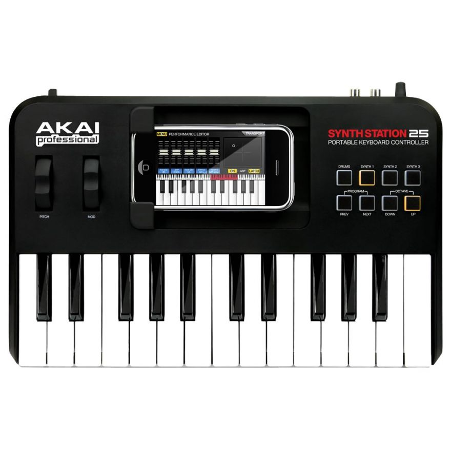 AKAI SYNTHSTATION 25 - MIDI CONTROLLER USB PER IPHONE/IPOD TOUCH