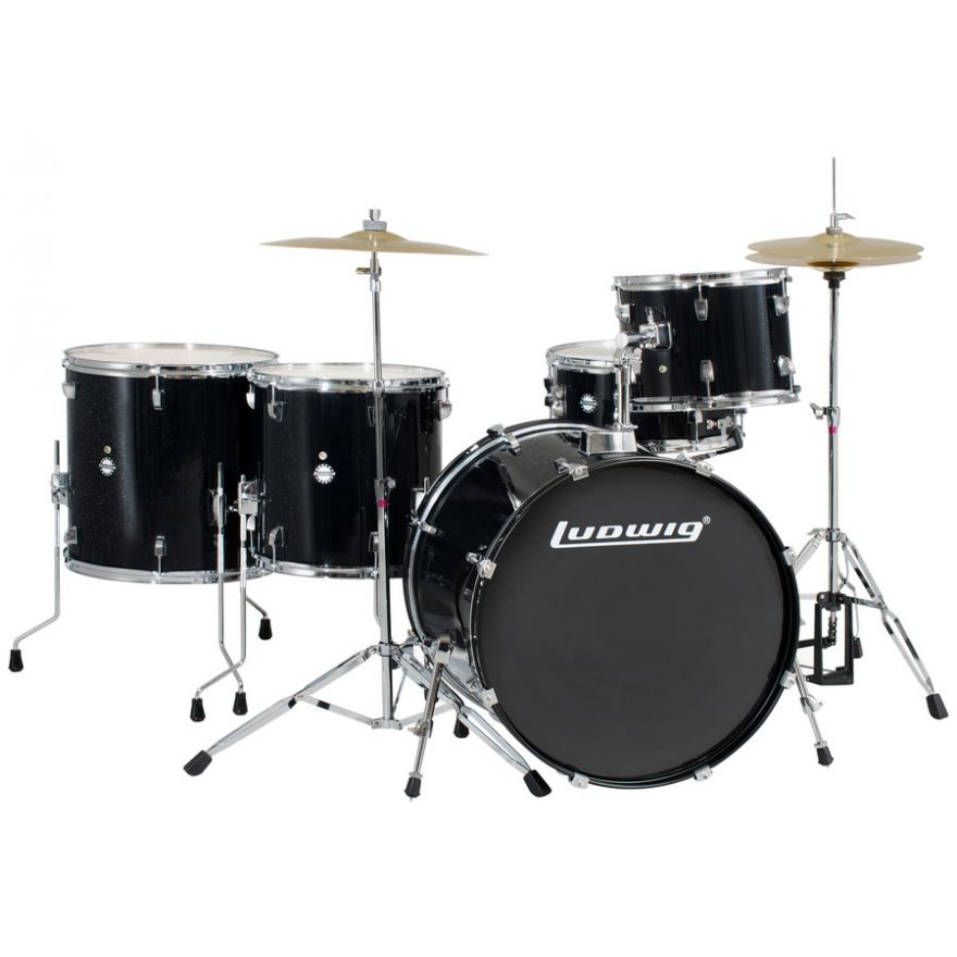 LUDWIG LC17611 ACCENT CS COMBO PLUS BLACK SPARKLE