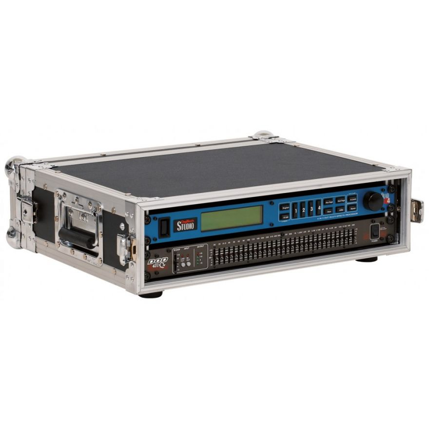 ROCKCASE RC24112B Prof. Rack Shallow 2HE/2Unit  Black