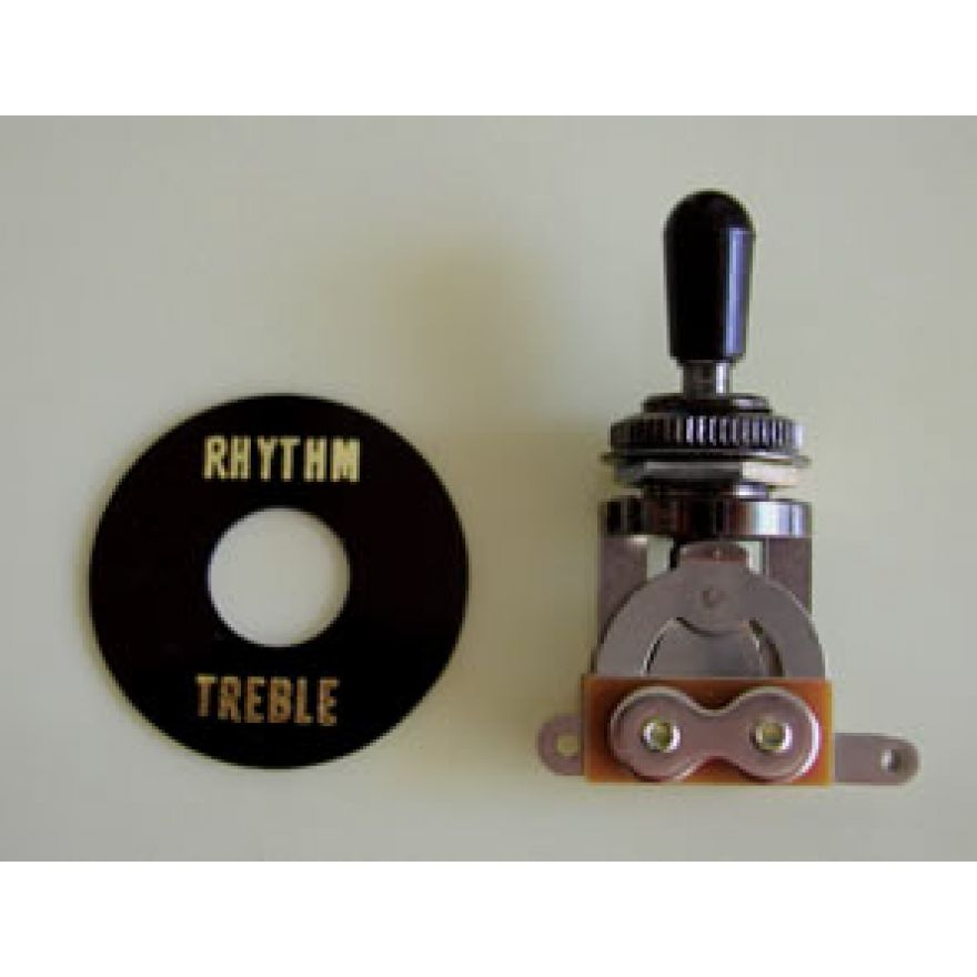 TOGGLE SWITCH SW20B CON CAPPUCCIO NERO