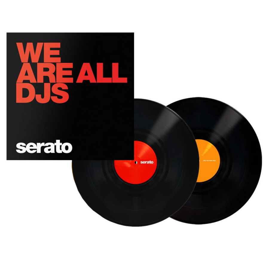 SERATO Black We Are All DJs 12 (COPPIA) - VINYL CONTROL PER SERATO