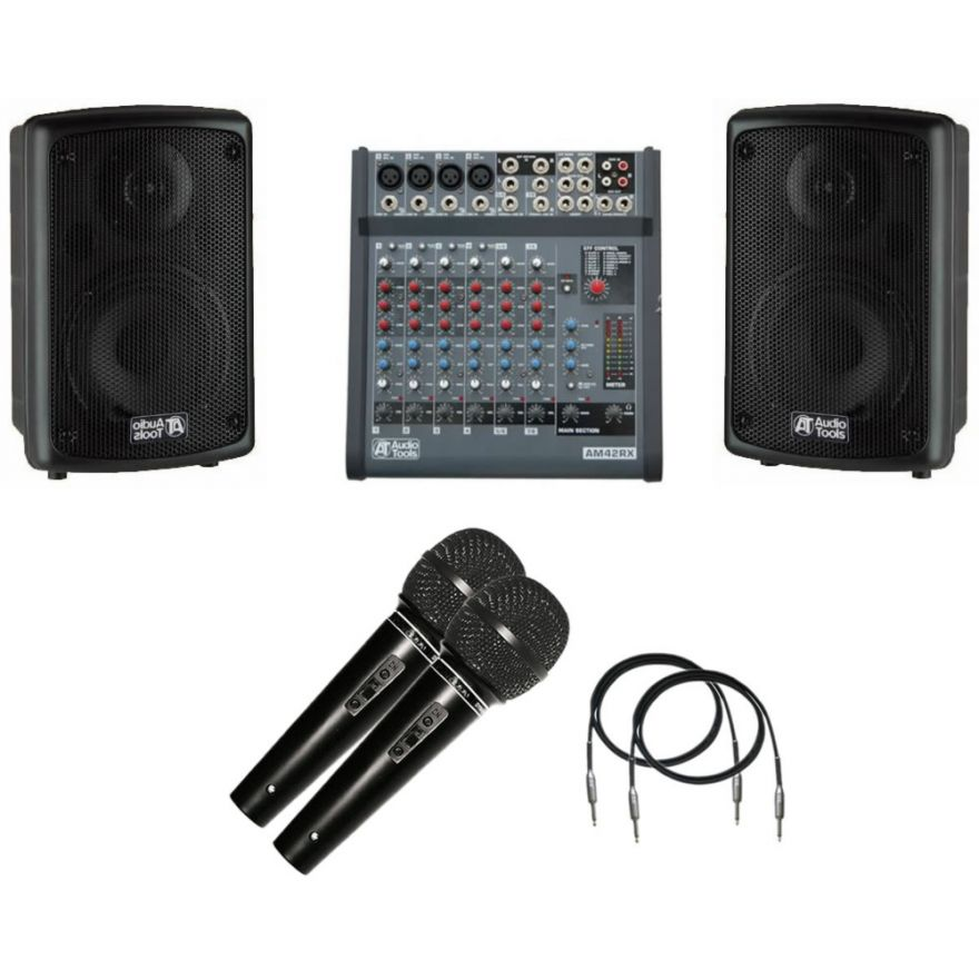KIT SCHOOL - Mixer + Casse Attive + Microfoni