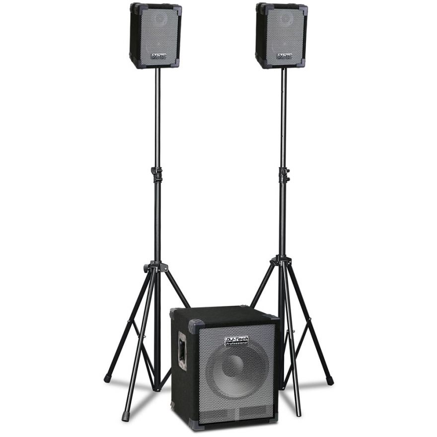 DJ TECH CUBE 302 - SISTEMA PA 580W (SUBWOOFER + 2 SATELLITI)