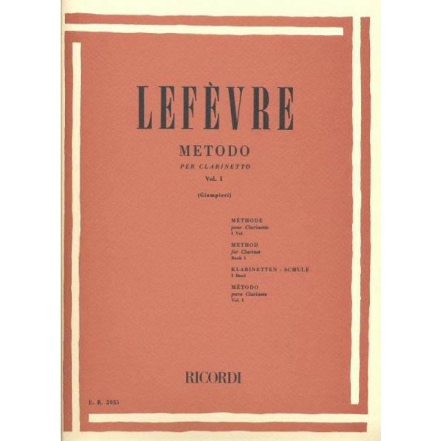 RICORDI Lefèvre, Jean Xavier - METODO Per CLARINETTO, Vol 1