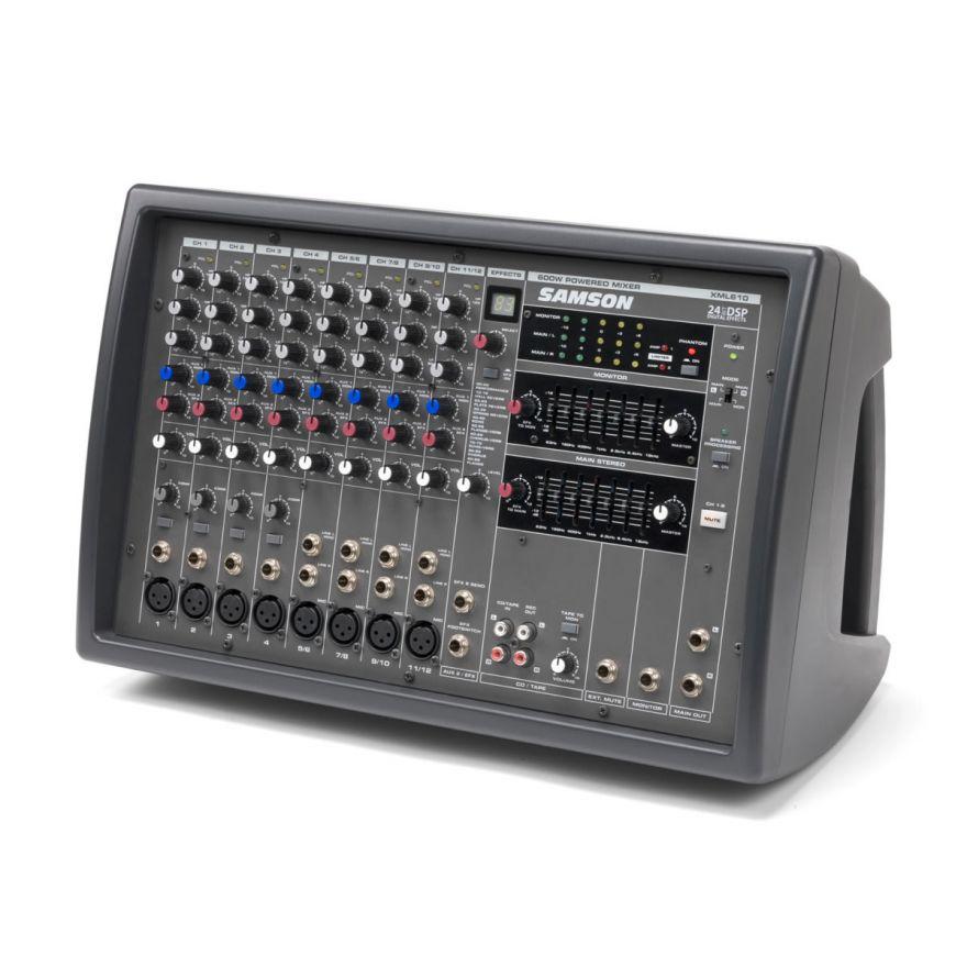 Samson XML610 - Mixer amplificato 12 canali con effetti