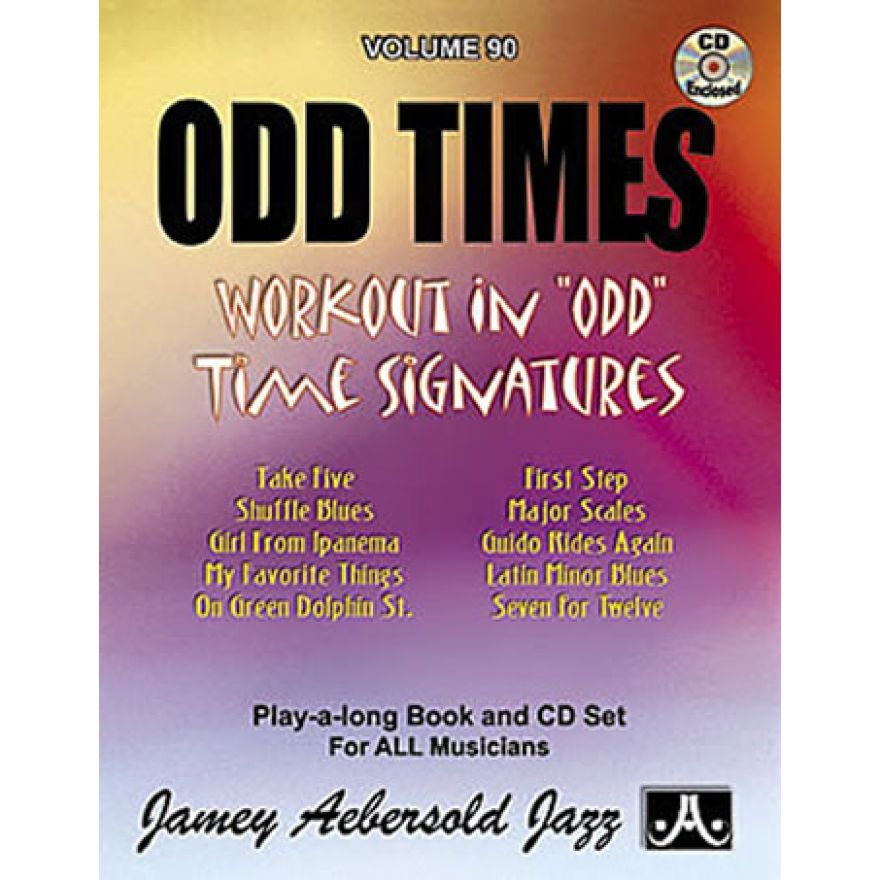 JAJ ODD TIMES (Unusual Time Signatures) (Volume 90)(+CD)