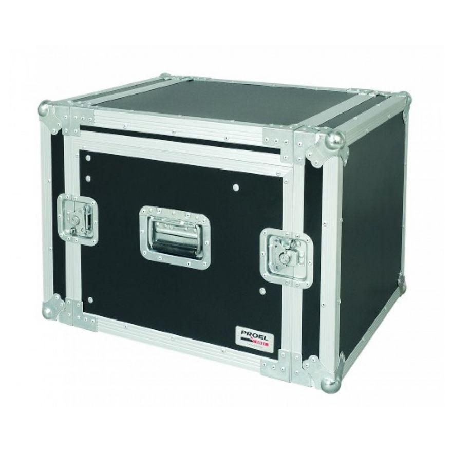 PROEL SA08BLKM - Flight case 8U a rack 19 con portamixer