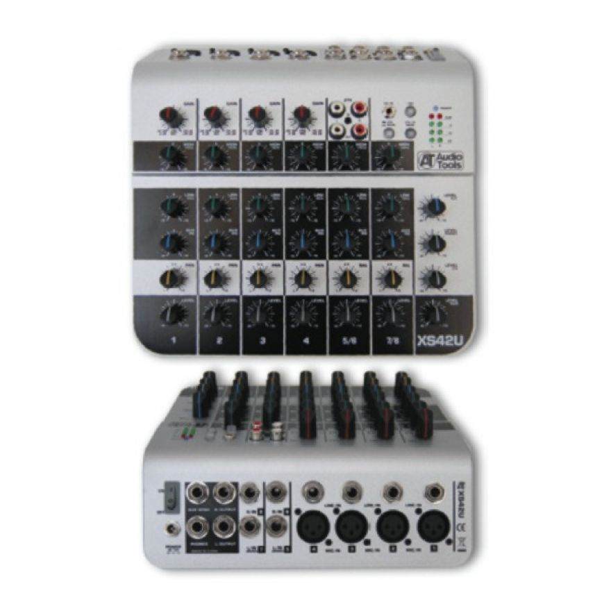 AUDIO TOOLS XS42U - MIXER 4 INGRESSI MONO + 2 STEREO