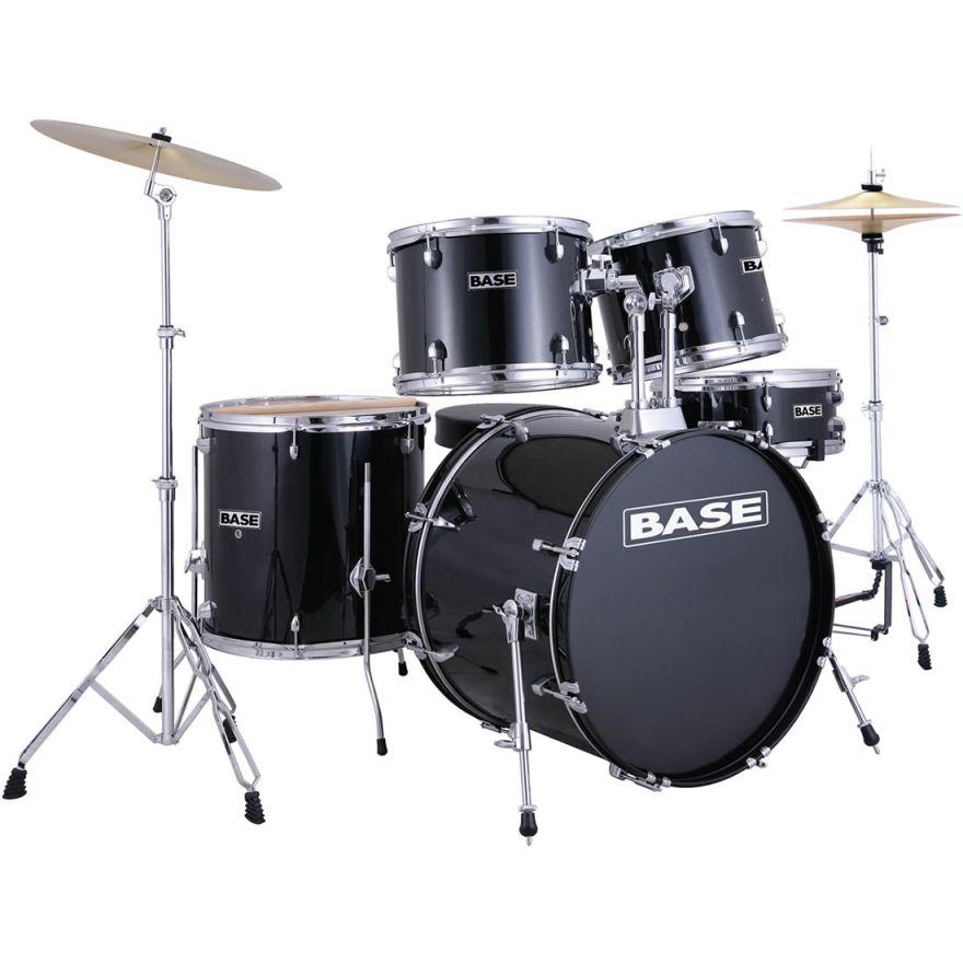 BASE B22S BK [BLACK] -BATTERIA + PIATTI + SGABELLO + BACCHETTE