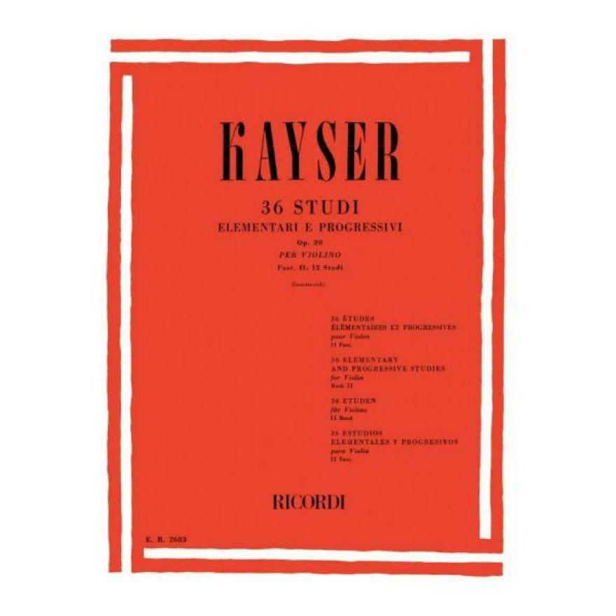0-RICORDI Kayser - 36 STUDI