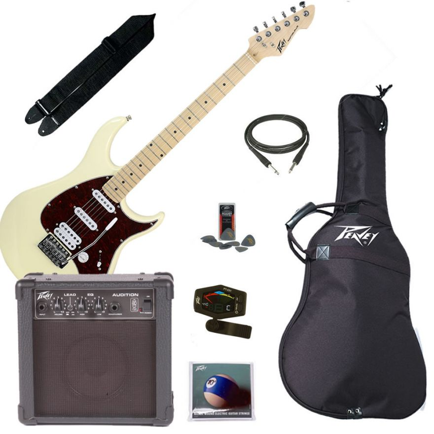 PEAVEY ELECTRIC GUITAR PACK PLUS IVORY - KIT CHITARRA ELETTRICA COMPLE