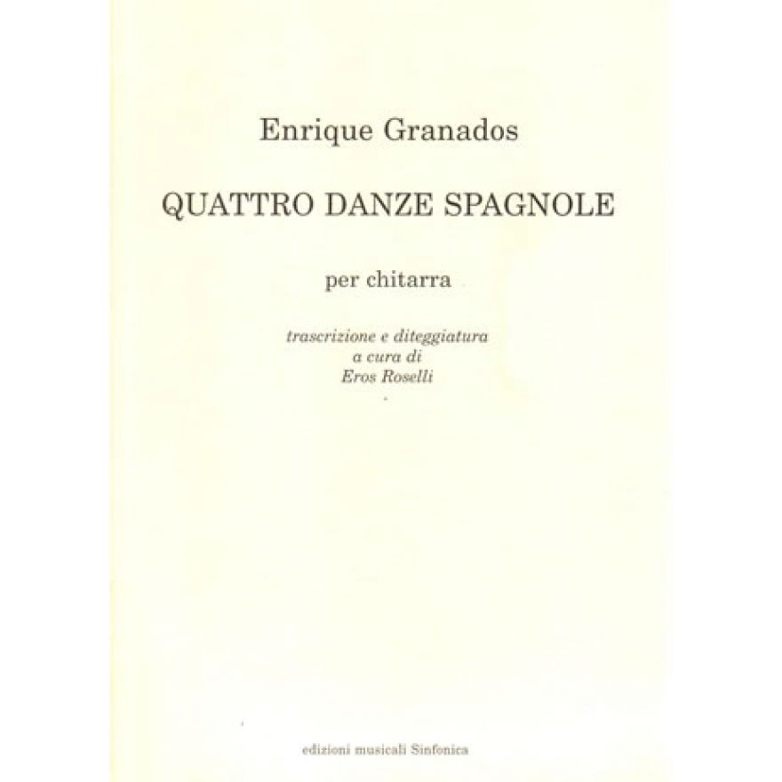 SINFONICA Enrique Granados - QUATTRO DANZE SPAGNOLE,per chitarra