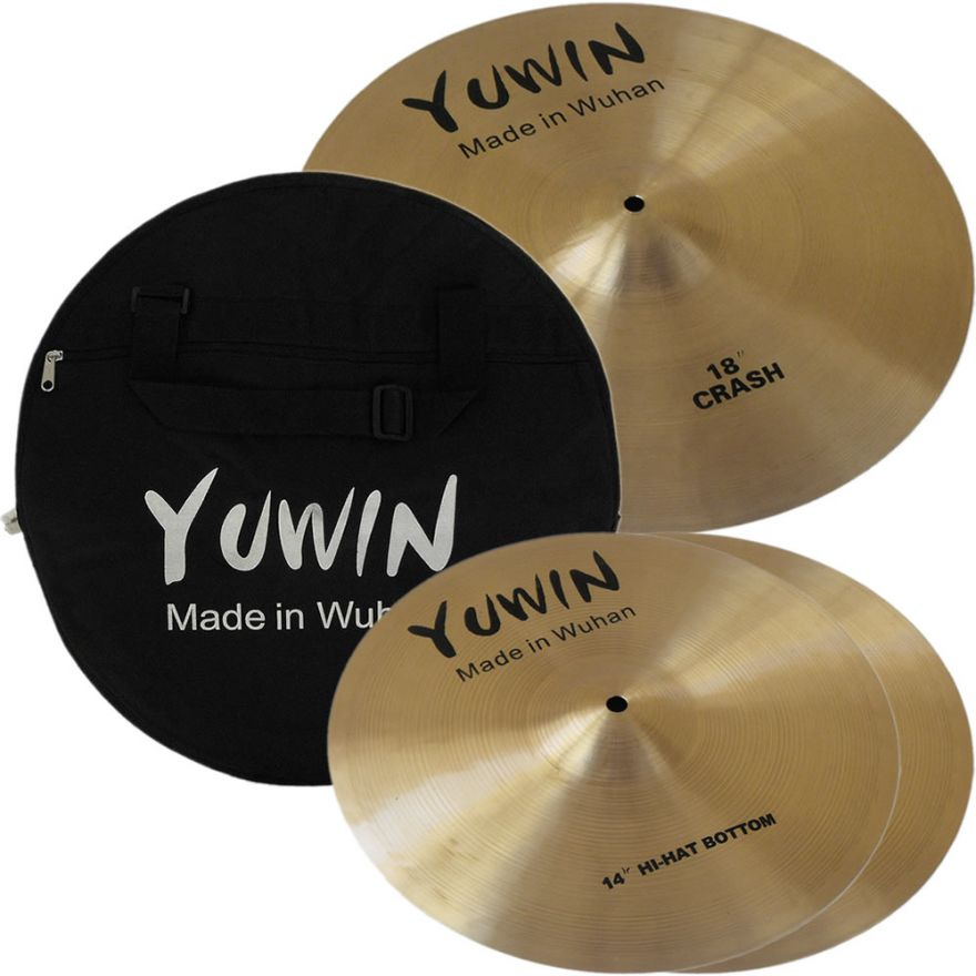 YUWIN YUSET1 - SET PIATTI CON BORSA (CRASH/HI-HAT)