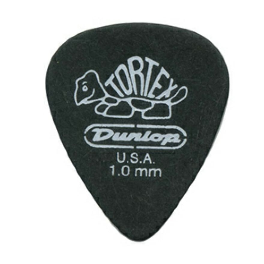 DUNLOP 488P - 12 PLETTRI TORTEX 'PITCH BLACK STANDARD' 1.0mm