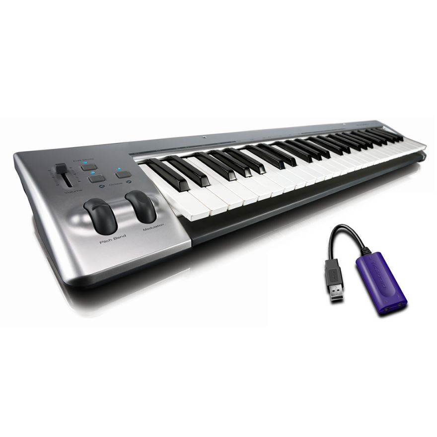 M-AUDIO KEYSTUDIO Bundle - TASTIERA USB 49 TASTI CON INTERFACCIA