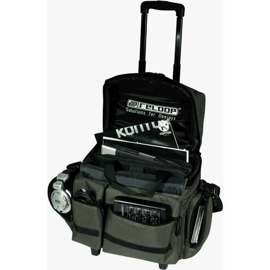 RELOOP MEDIA TROLLEY SUPERIOR OLIVE - TROLLEY PER 80 VINILI