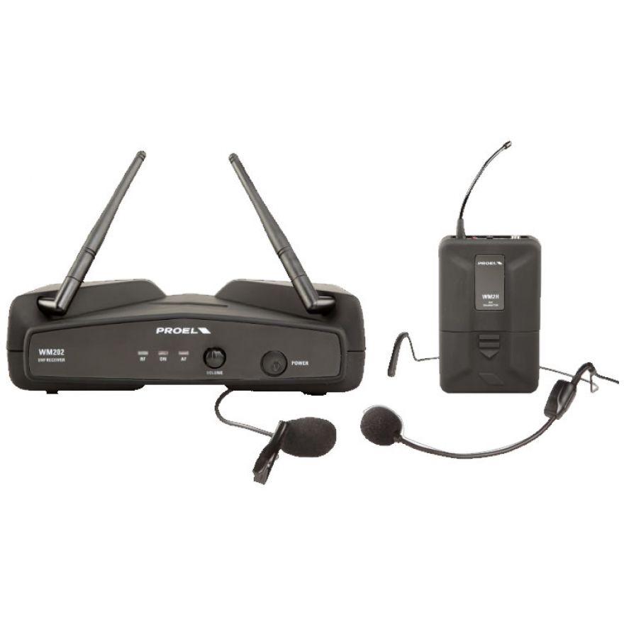 PROEL WM202H - Radiomicrofono UHF lavalier/headset