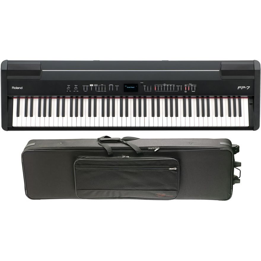 Roland FP7 Digital Piano + Trolley Semi Rigido