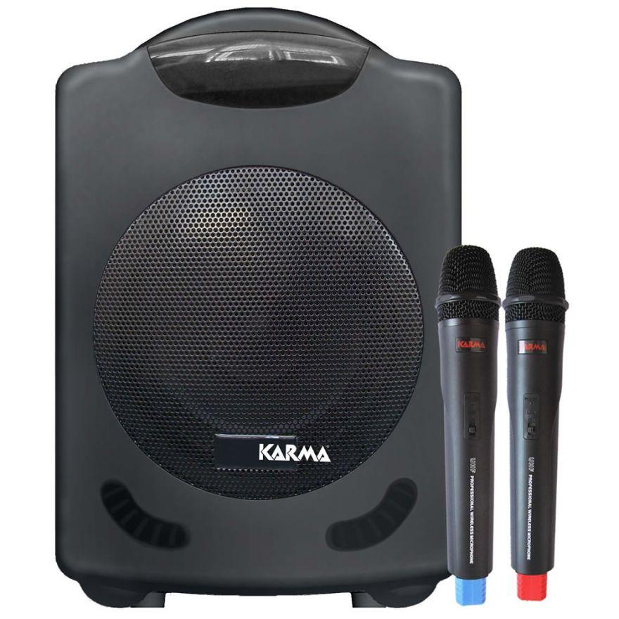 KARMA BM 888 - DIFFUSORE AMPLIFICATO CON 2 RADIOMICROFONI