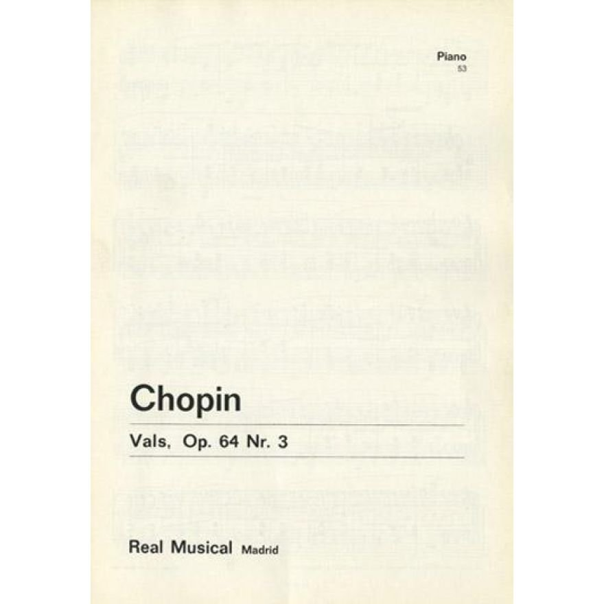 REAL MUSICAL Chopin, Fryderyk - VALS, Op.64 No.3