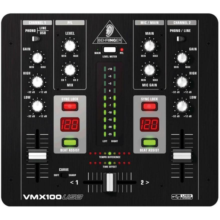 BEHRINGER VMX100USB PRO MIXER USB + CUFFIA PER DJ - BUNDLE DJ