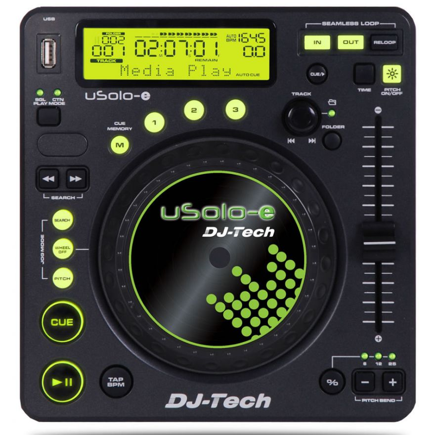 DJ TECH USOLOE - (Coppia) PLAYER MP3 COMPATTO USB