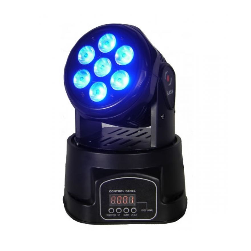 FLASH LED MOVING HEAD 7X10W RGBW 4IN1