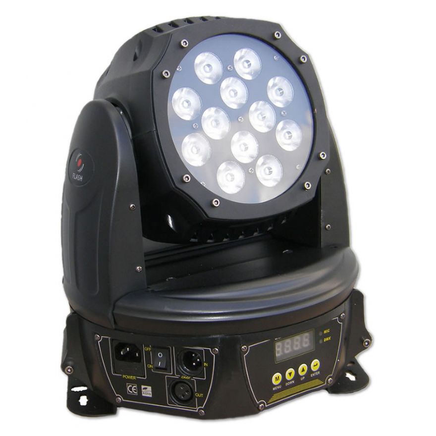 FLASH LED MOVING HEAD ZOOM 144W 4IN1 RGBW WASH