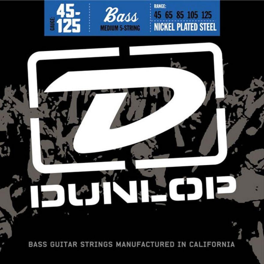 DUNLOP DBN45125 MEDIUM - MUTA PER BASSO 5 CORDE(45-125)