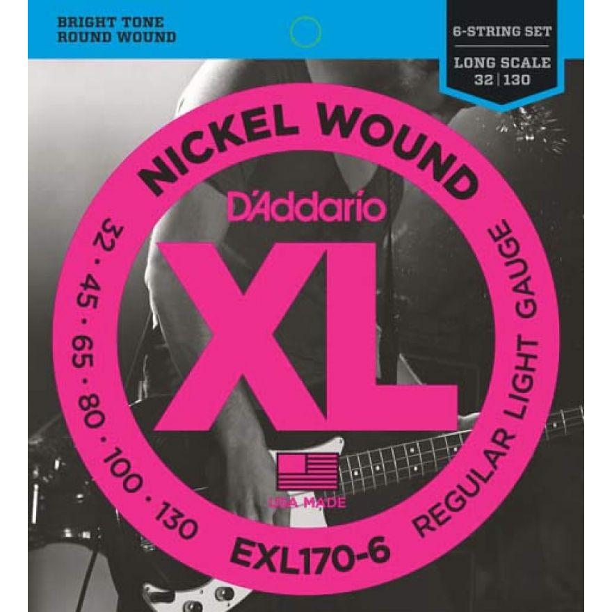 D'ADDARIO EXL170-6 - MUTA PER BASSO ELETTRICO 6 CORDE (032-130)