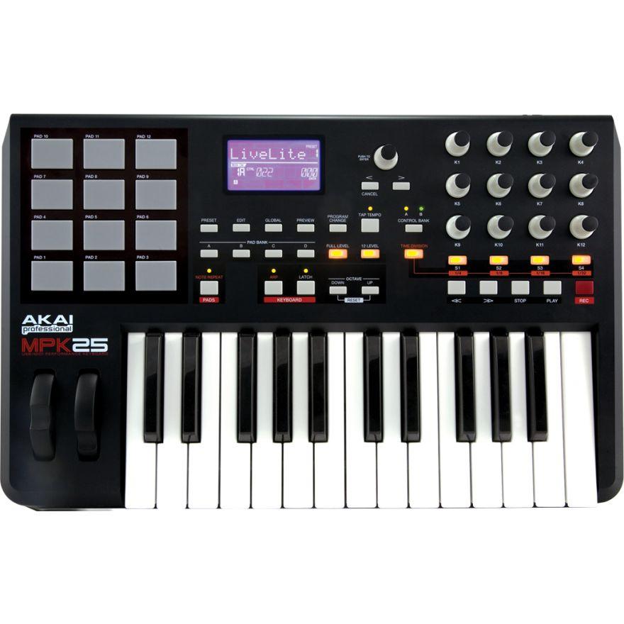 AKAI MPK25 - TASTIERA/CONTROLLER MIDI-USB CON ARPEGGIATORE ...