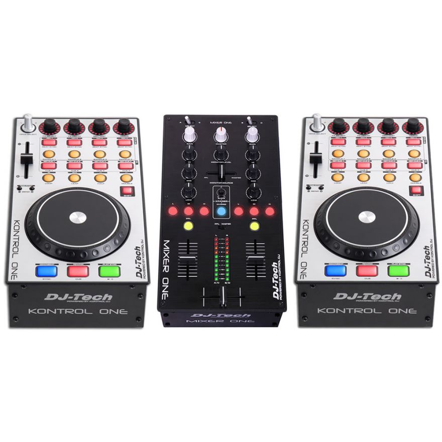 DJ TECH KIT ONE [MIXER ONE + 2 KONTROL ONE] Deejay set