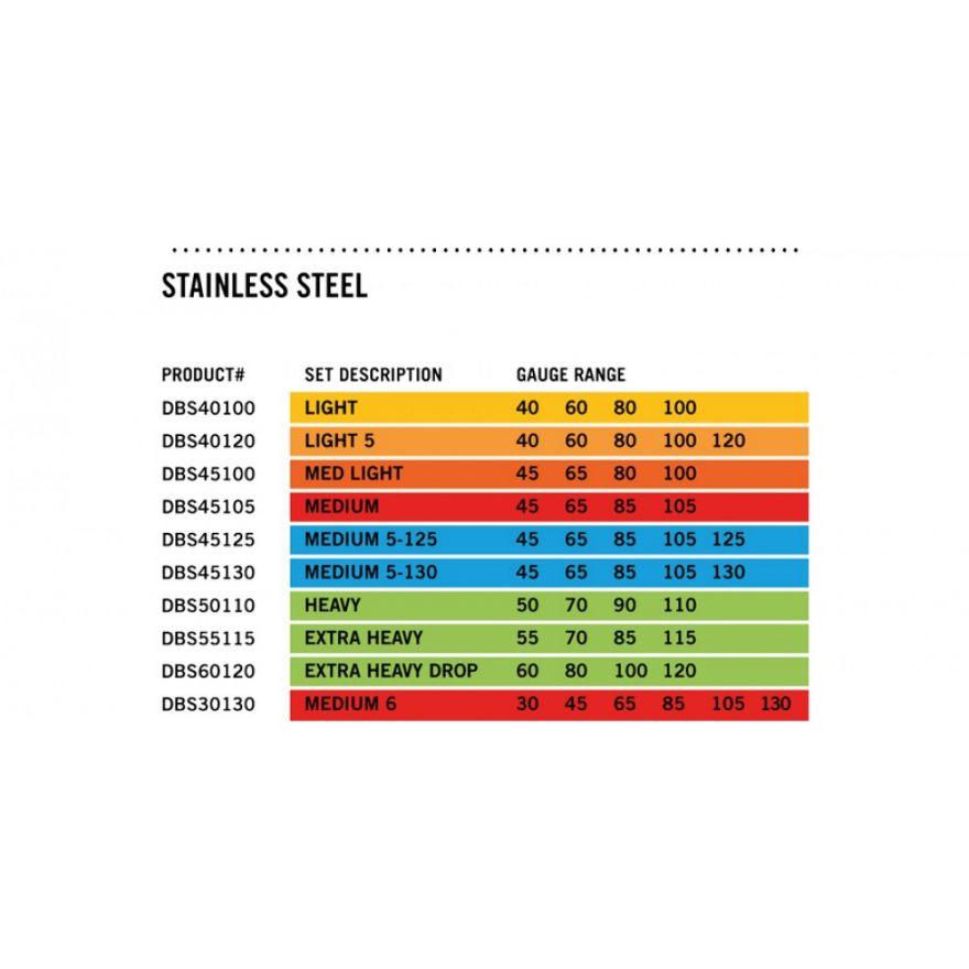 Dunlop DBS45125 BASS-SS MED 5/Set