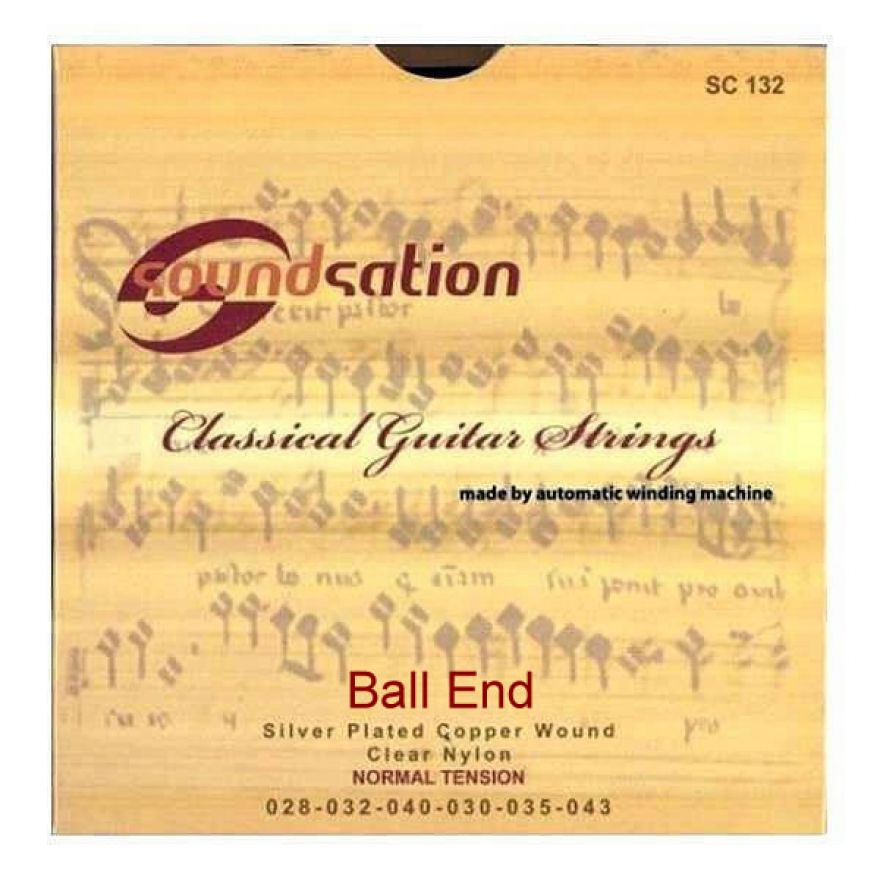 SOUNDSATION SC132BE - MUTA DI CORDE PER CLASSICA BALL-END