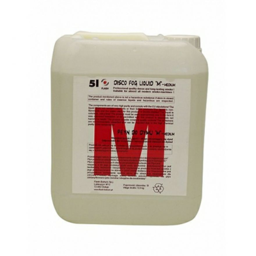 FLASH SMOKE FLUID MEDIUM - LIQUIDO PER MACCHINA FUMO Medium (5Lt