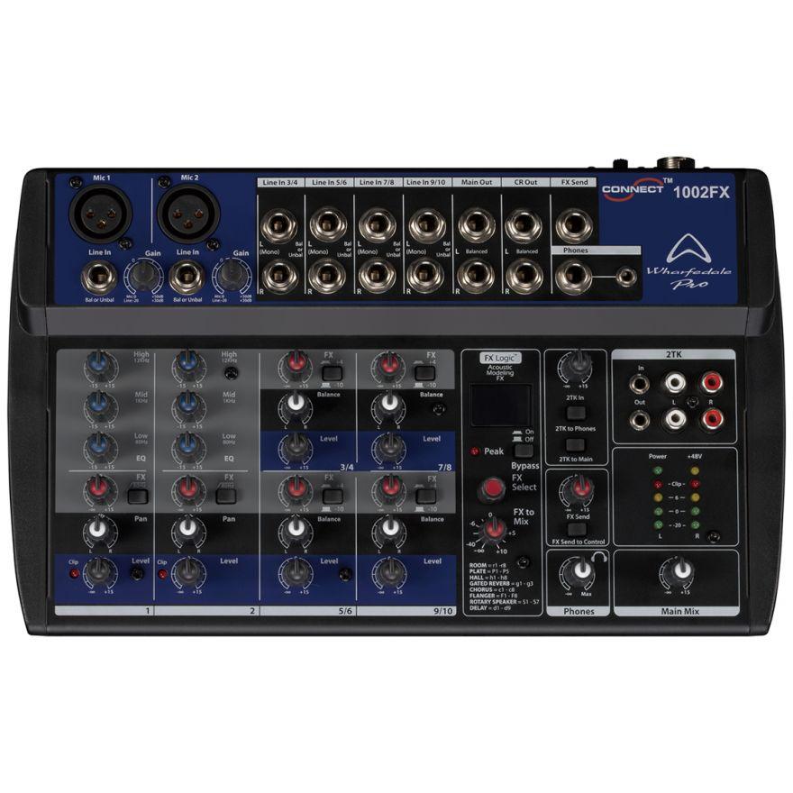 Wharfedale Pro CONNECT 1002 FX - MIXER AUDIO 10 CANALI CON EFFETTI