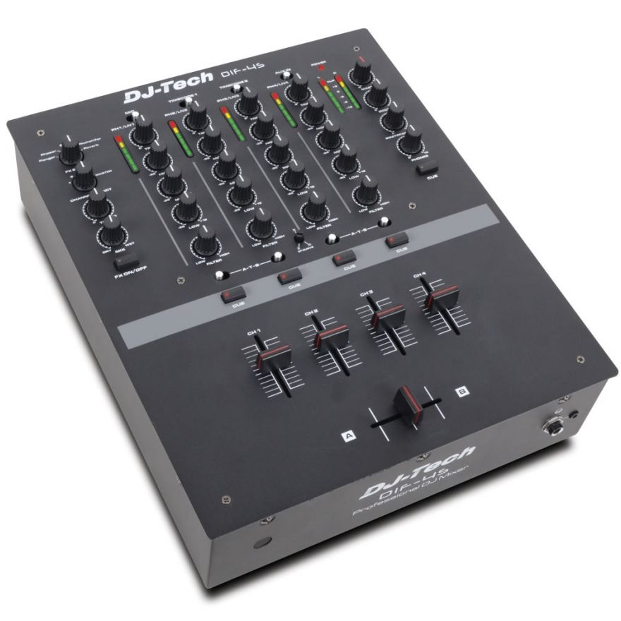 0-DJ TECH DIF-4S - MIXER 4