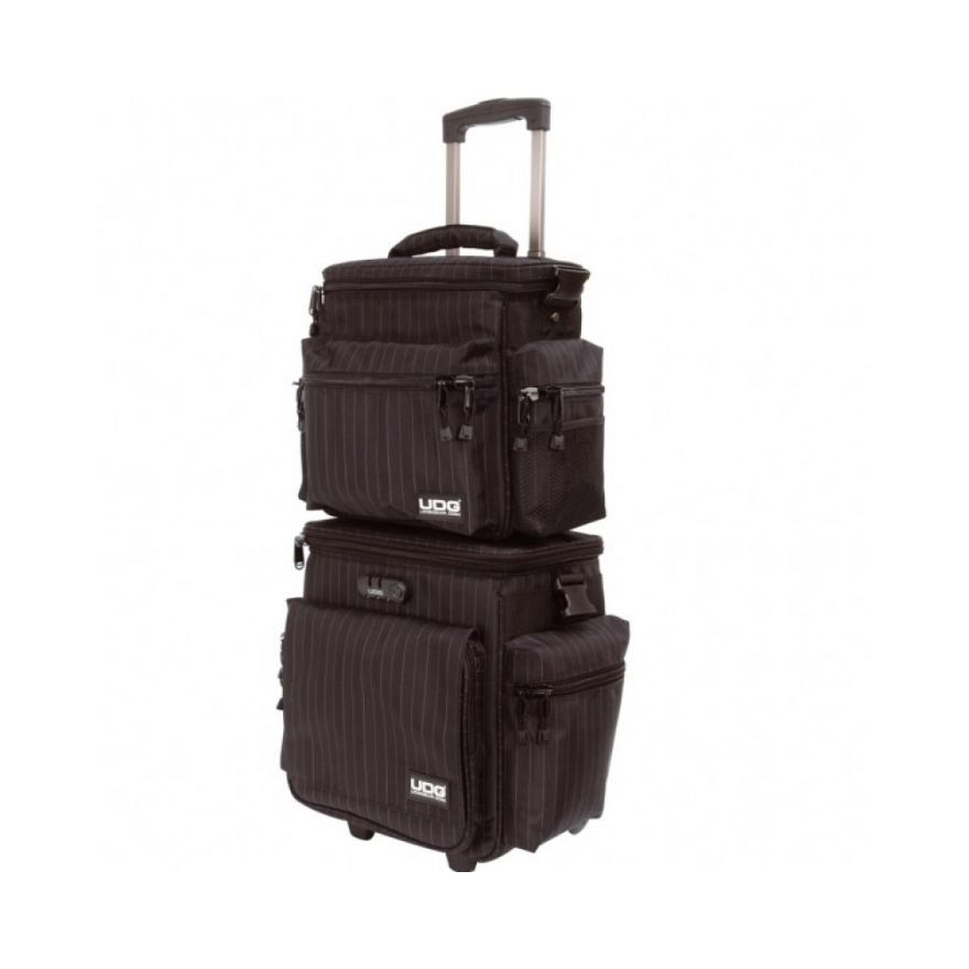 UDG SLINGBAG TROLLEY SET DELUXE BLACK GREY STRIPE